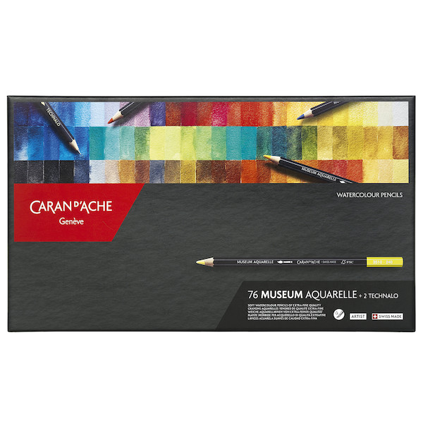 Caran d'Ache Museum Aquarell Watercolour Pencil Box of 76 + 2 Technalo
