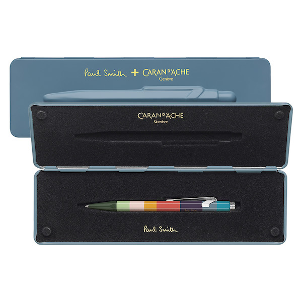Caran d'Ache 849 Ballpoint Pen Paul Smith Limited Edition Petrol Blue