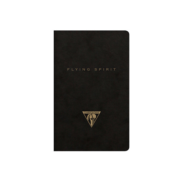 Clairefontaine Flying Spirit Notebook Black Cover 75x120