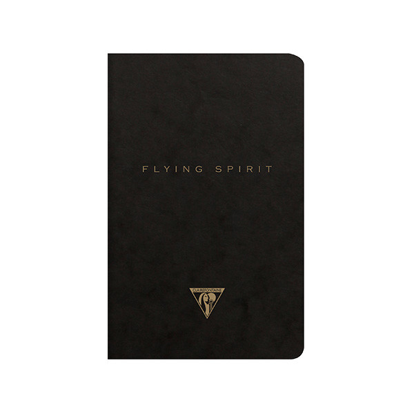 Clairefontaine Flying Spirit Notebook Black Cover 110x170