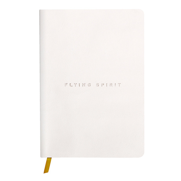 Clairefontaine Flying Spirit Leather Notebook A5 White
