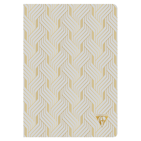 Clairefontaine Neo Deco Sewn Spine Notebook A5 Pearl Grey