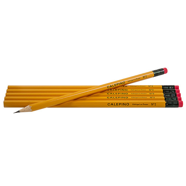 Calepino Yellow Wooden Pencils Set of 6