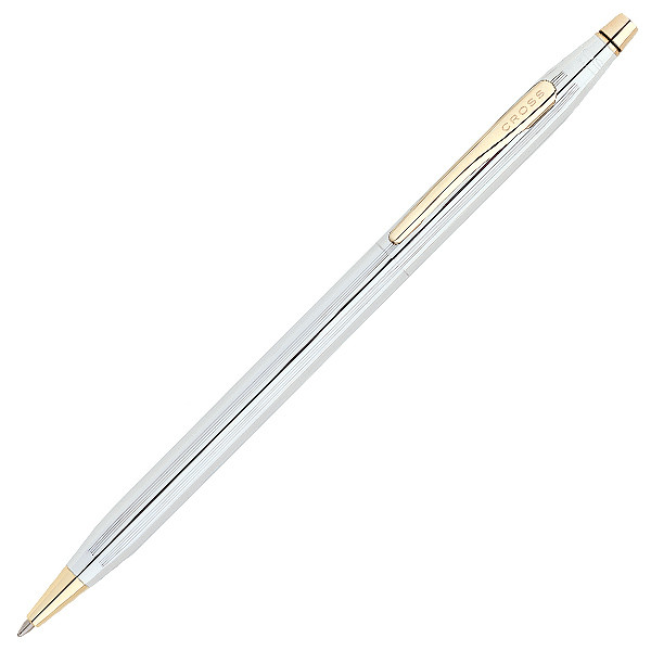 Cross Classic Century Ballpoint Pen Medalist Chrome with Gold Trim