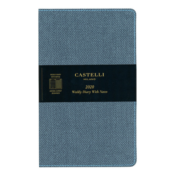 Castelli Harris Medium Diary 2020 Slate Blue
