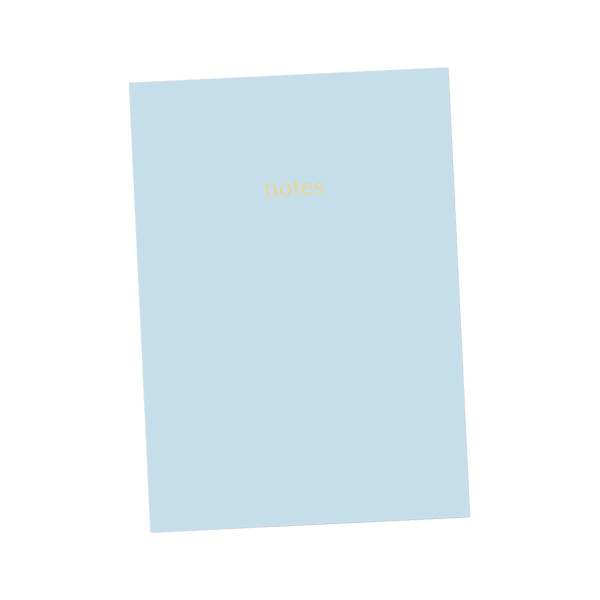 Dotty About Paper Colourblock Notebook A5 Light Blue