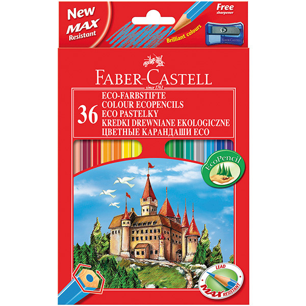 Faber-Castell Eco Colouring Pencils Box of 36