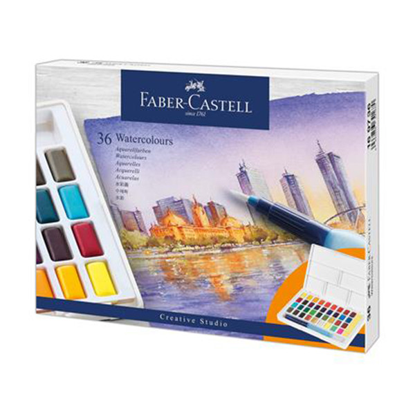 Faber-Castell Creative Studio Watercolour Pan Set of 36