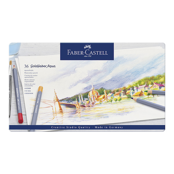 Faber-Castell Goldfaber Aqua Watercolour Pencils Tin of 36