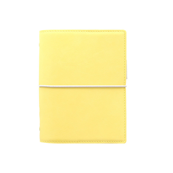 Filofax Domino Pocket Organiser Soft Lemon