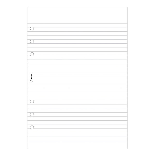 Filofax Notepad Ruled White