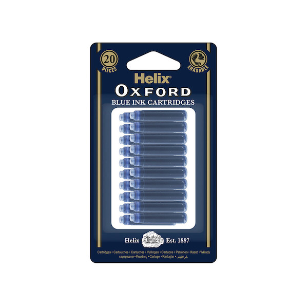 Helix Oxford Ink Cartridges Pack of 20