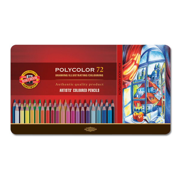 Koh-I-Noor Polycolor Art Pencil 3800 Tin of 72