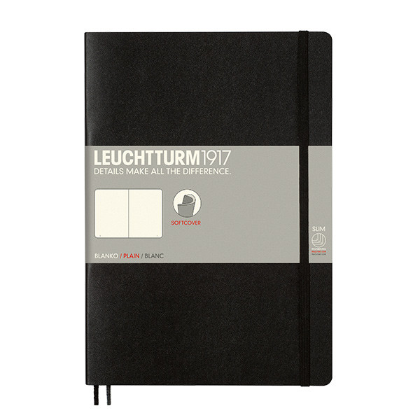 Leuchtturm1917 Softcover Notebook B5 Black
