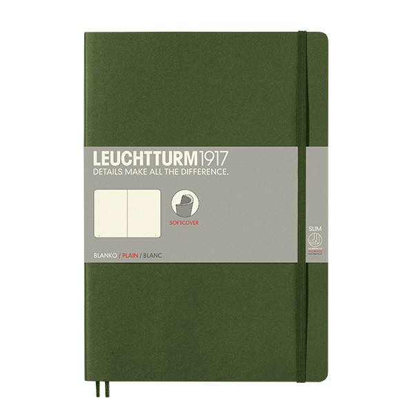 Leuchtturm1917 Softcover Notebook B5 Army
