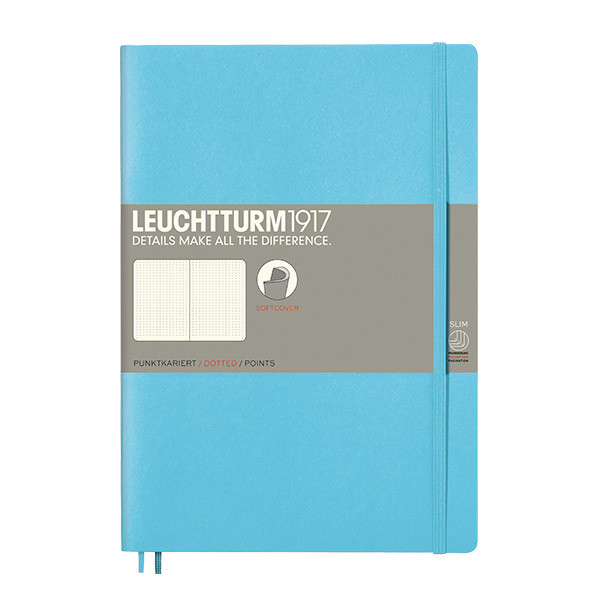 Leuchtturm1917 Softcover Notebook B5 Ice Blue