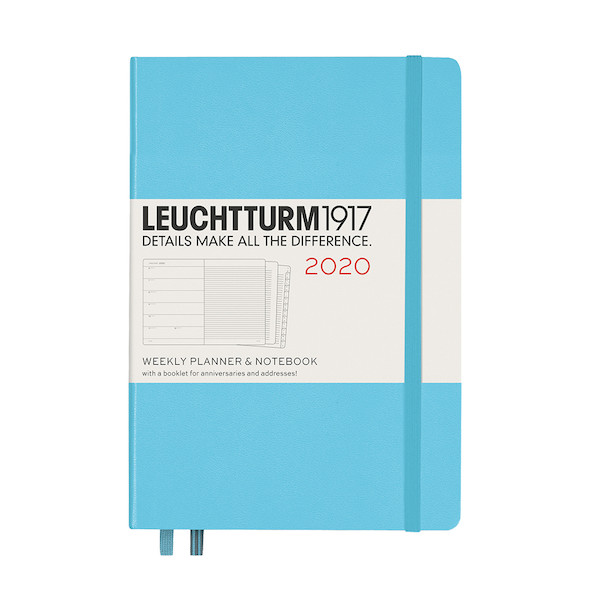 Leuchtturm1917 Diary Weekly Planner and Notebook 2020 Medium Ice Blue