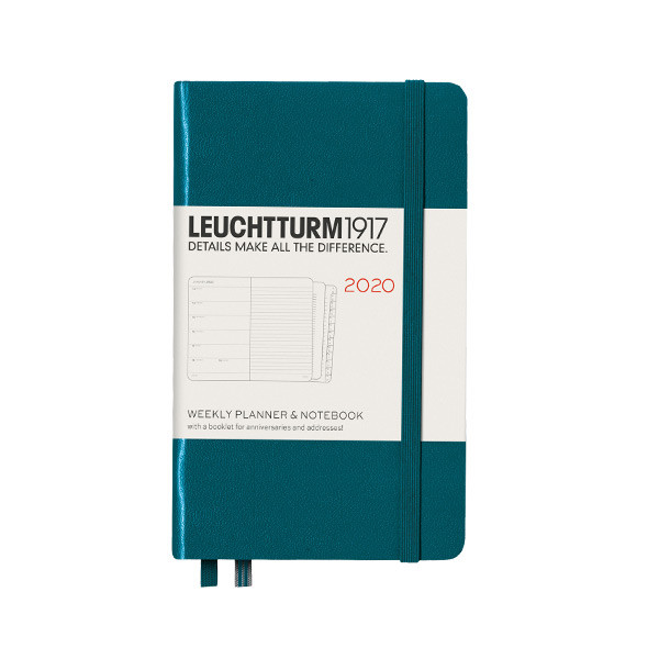 Leuchtturm1917 Diary Weekly Planner and Notebook 2020 Pocket Pacific Green