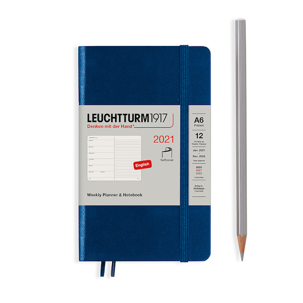 Leuchtturm1917 Weekly Planner & Notebook 2021 Softcover Pocket Navy