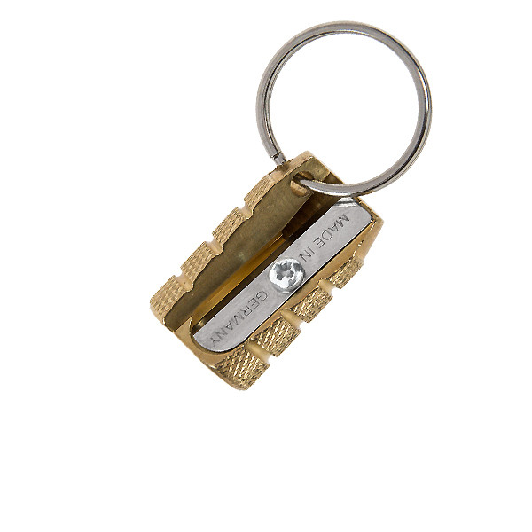 M+R Grenade Single Hole Brass Keyring Sharpener