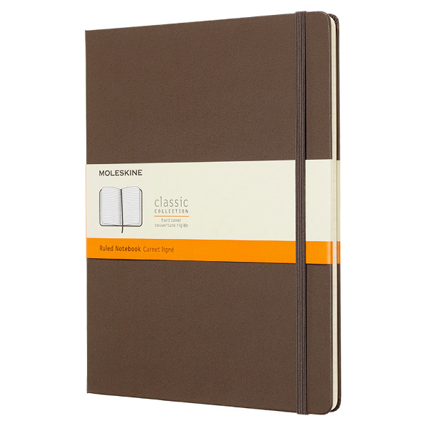 Moleskine Classic Collection Extra Large Notebook 190x250 Earth Brown