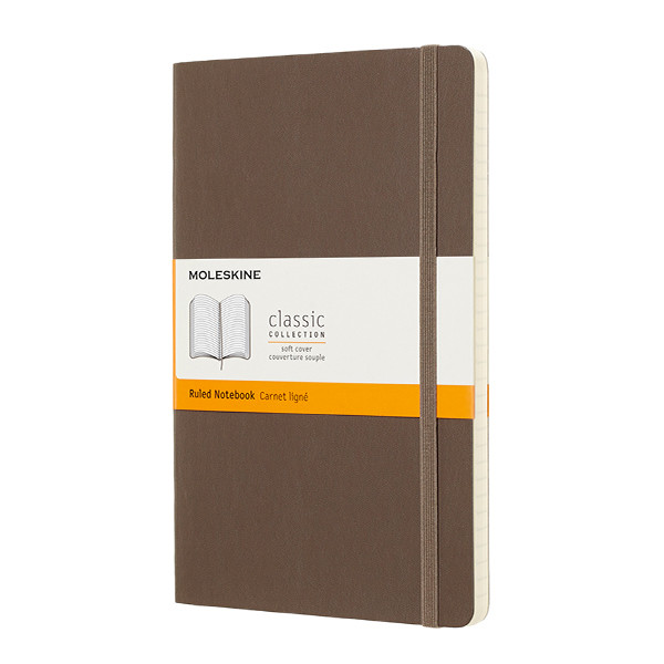 Moleskine Soft Cover Large Notebook 135x210 Earth Brown