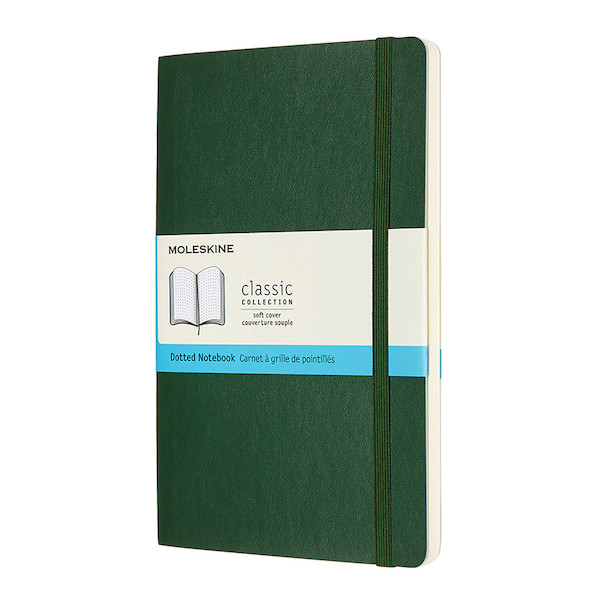 Moleskine Soft Cover Large Notebook 135x210 Myrtle Green
