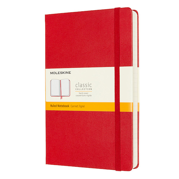 Moleskine Classic Collection Expanded Hardcover Large Notebook Scarlet Red