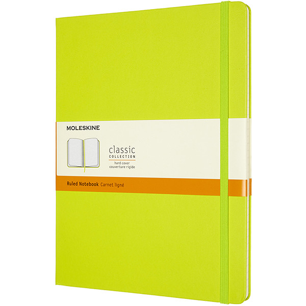 Moleskine Classic Collection Hardcover Extra Large Notebook Lemon Green