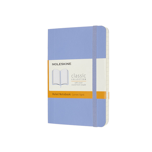 Moleskine Classic Collection Softcover Pocket Notebook Hydrangea Blue
