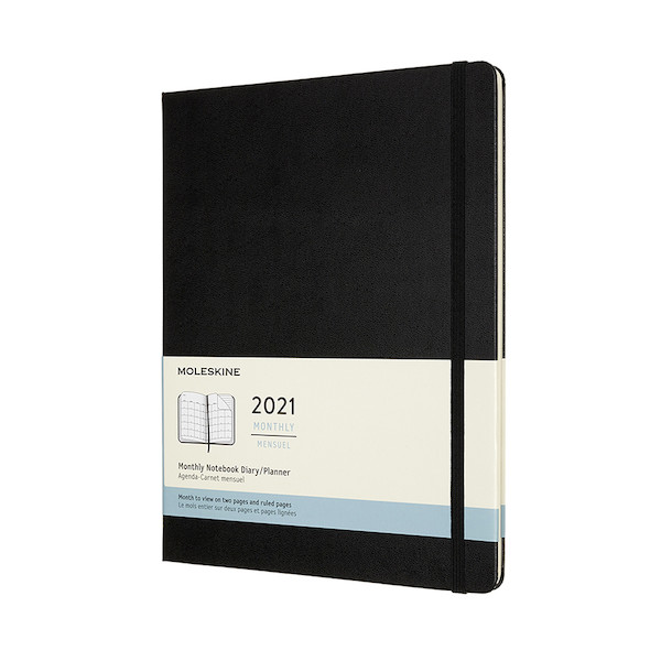 Moleskine Monthly Diary 2021 Hardcover Extra Large Black