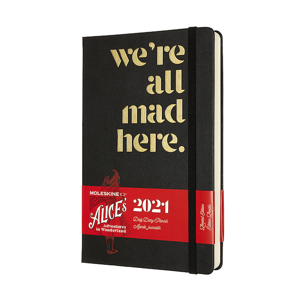 Moleskine Alice's Adventures in Wonderland Large Daily Diary 2021 Limited Edition Mad