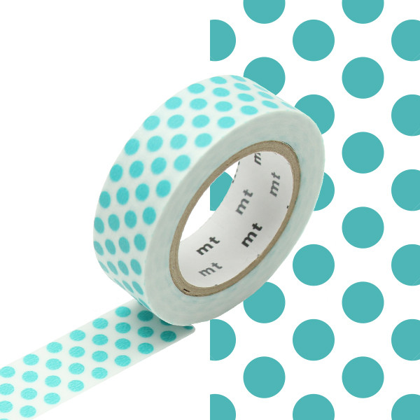 mt Washi Masking Tape 15mm x 10m Dot Soda