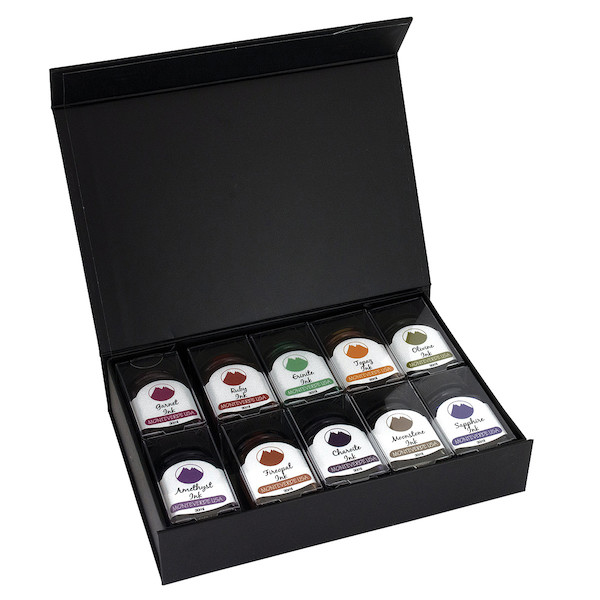 Monteverde Gemstone Collection 10-Piece Ink Bottle Gift Set