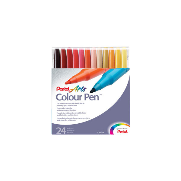 Pentel Colour Pen S360 Set of 24
