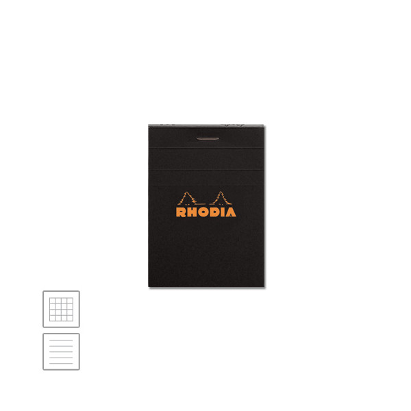 Rhodia Head-Stapled Notepad No.11 74 x 105 Black