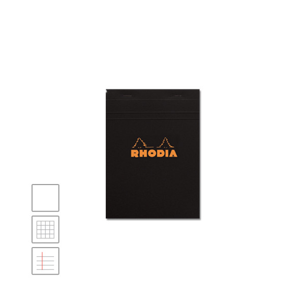 Rhodia Head-Stapled Notepad No.16 A5 (148 x 210) Black