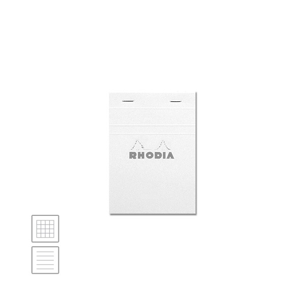 Rhodia Ice White Head-Stapled Notepad No.13 A6 (105 x 148)