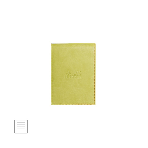 Rhodia Rhodiarama Leatherette Refillable Notepad No.11 (84 x 115) Anise Green