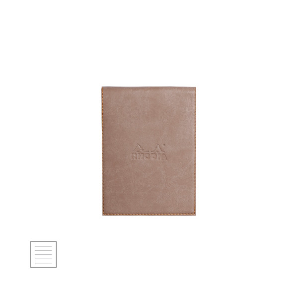 Rhodia Rhodiarama Leatherette Refillable Notepad No.12 (95 x 130) Taupe