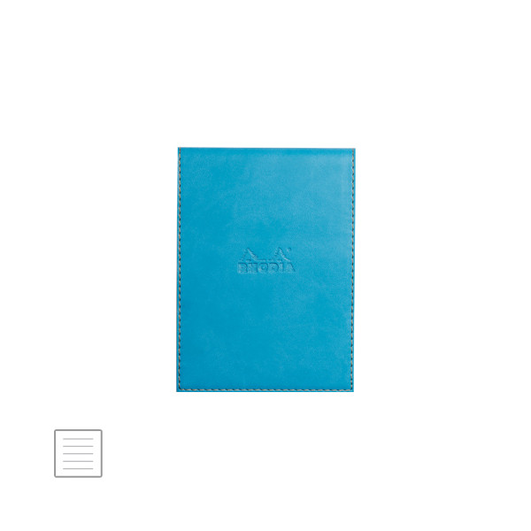 Rhodia Rhodiarama Leatherette Refillable Notepad No.13 (115 x 158) Turquoise