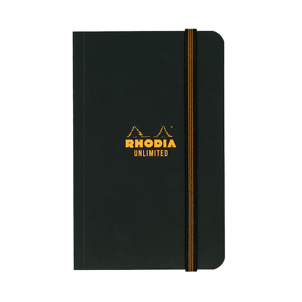 Rhodia Unlimited Elastic Closure Notebook Black (90 x 140)