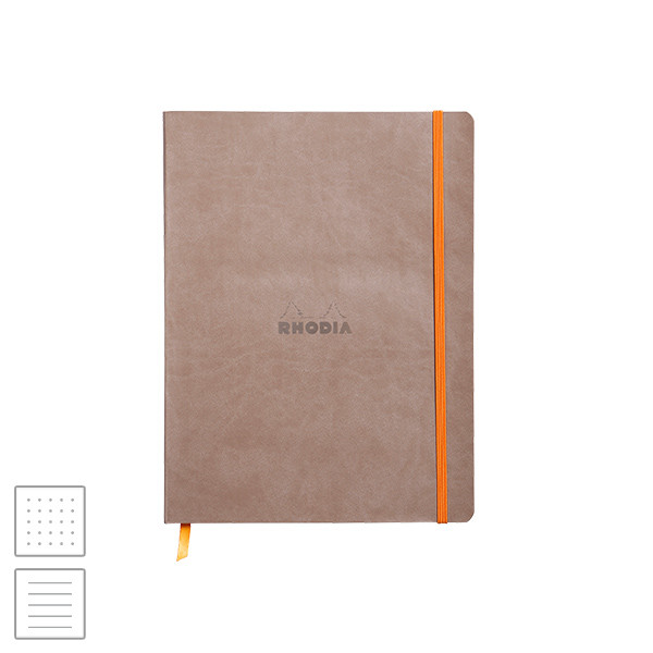 Rhodia Rhodiarama Softcover Notebook (190 x 250) Taupe