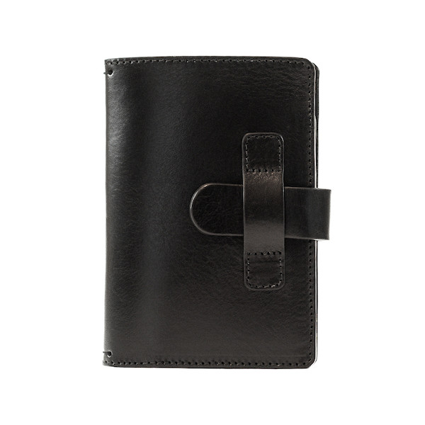 Cult Pens Ruitertassen Leather Notebook Cover 90x140mm Black