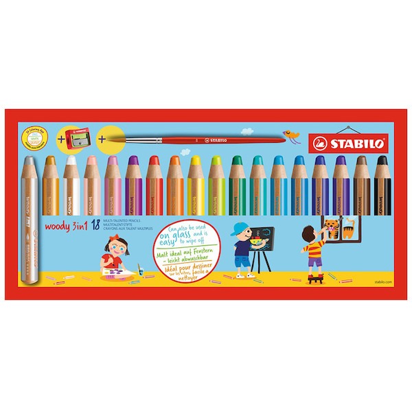 STABILO Woody 3-in-1 Pencil Set of 18