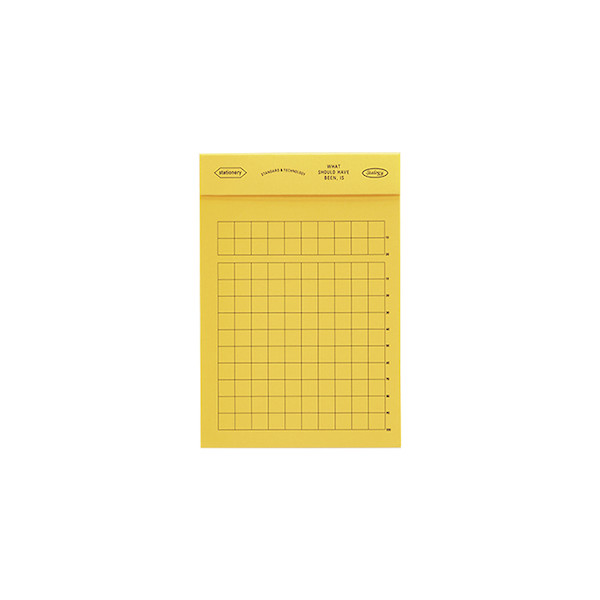 Stalogy Editor's Memo Pad Yellow Squared