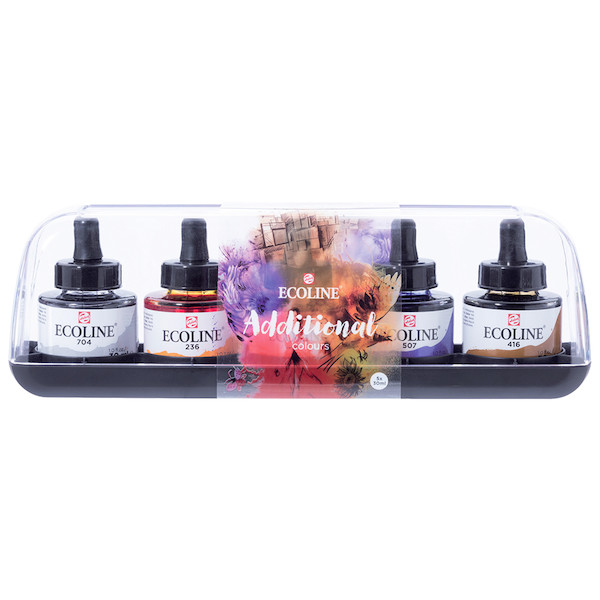 Royal Talens Ecoline Liquid Watercolour 30ml Additional Set of 5