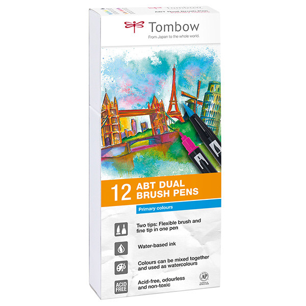 Tombow ABT Dual Brush Pen Set of 12