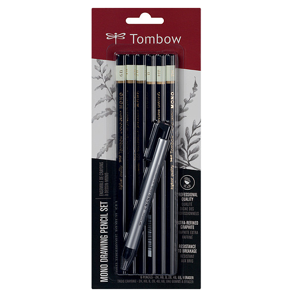 Tombow MONO Drawing Pencil and Eraser Set