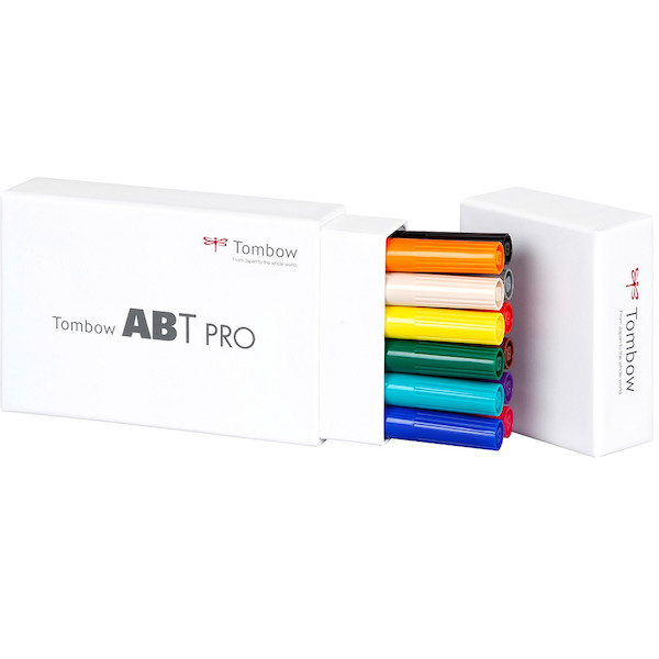 Tombow ABT PRO Dual Brush Pen Set of 12 Basic